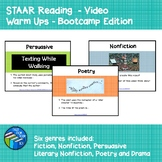 STAAR Reading - Video Warm Ups - Bell Ringers - Boot Camp Edition