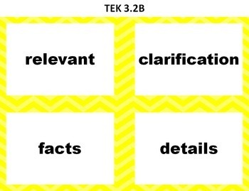 STAAR Reading Vocabulary 3rd Grade