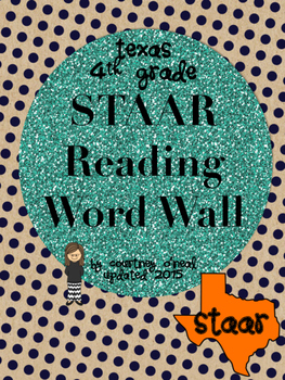STAAR Reading Vocabulary Word Wall / Hot Seat Game (Print & Play!)