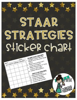 STAAR Reading and Math Strategies Sticker Chart