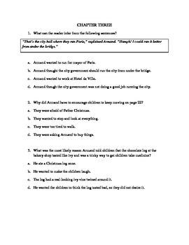 Novel Study Guide to Family Under the Bridge