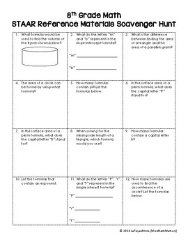Math Staar Reference Worksheets & Teaching Resources | TpT