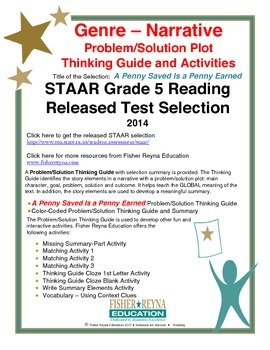 STAAR Release Analysis & Activities: A Penny Saved Is a Penny Earned, Grade 5