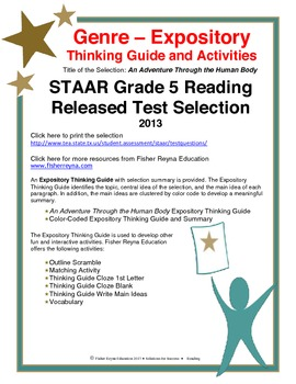 STAAR Release Analysis & Activities: An Adventure Through the Human Body Grade 5