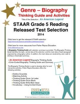 STAAR Release Analysis & Activities: An American Legend, Grade 5