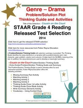 STAAR Release Analysis & Activities: Cousin on the Court, Grade 4