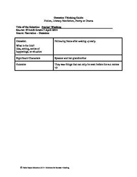 STAAR Release Analysis & Activities: Fairies' Washing, Grade 7