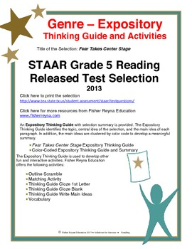 STAAR Release Analysis & Activities: Fear Takes Center Sta