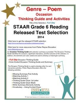STAAR Release Analysis & Activities: Full Day, Grade 6