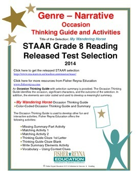 STAAR Release Analysis & Activities: My Wandering Horse, Grade 8
