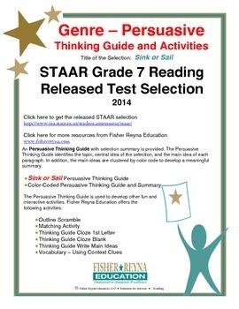 STAAR Release Analysis & Activities: Sink or Sail, Grade 7