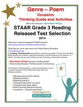 STAAR Release Analysis & Activities: Styrofoam Wings, Grade 3