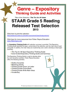 STAAR Release Analysis & Activities: The Toy for All Ages, Grade 5