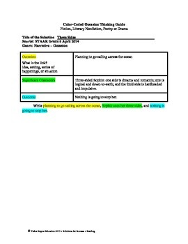 STAAR Release Analysis & Activities: Three Sides, Grade 6