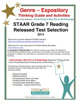 STAAR Release Analysis & Activities: Uncovering a New Era in Archaeology, Gr 7