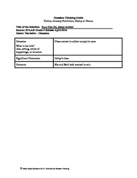 STAAR Release Analysis & Activities: from Can Do, Jenny Archer, Grade 3