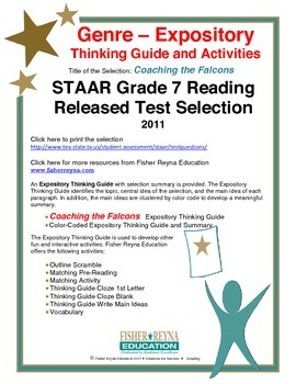 STAAR Release Analysis & Activities: Coaching the Falcons, Grade 7