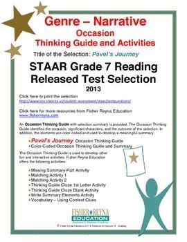 STAAR Release Analysis & Activities: Pavel's Journey, Grade 7