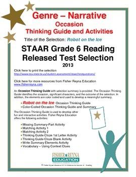 STAAR Release Analysis & Activities: Robot on the Ice, Grade 6