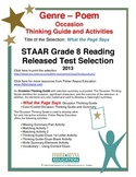 STAAR Release Analysis & Activities: What the Page Says, Grade 8