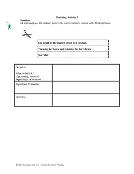 STAAR Release Analysis & Activities: A Run To Remember, Grade 6