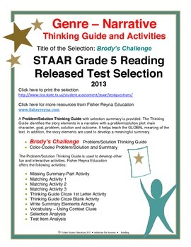 STAAR Release Analysis & Activities: Brody's Challenge, Grade 5