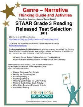 STAAR Release Analysis & Activities: Kwan's Secret Talent,