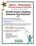 STAAR Release Analysis & Activities: Letter to the Editor, Grade 5