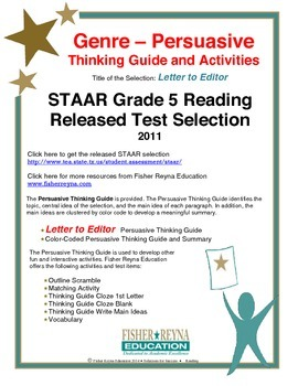 STAAR Release Analysis & Activities: Letter to the Editor,