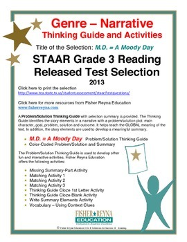 STAAR Release Analysis & Activities: M.D. = A Moody Day, Grade 3