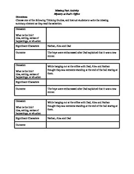 STAAR Release Analysis & Activities: Mystery at Dad's Office, Grade 4