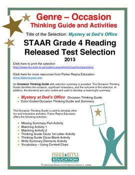 STAAR Release Analysis & Activities: Mystery at Dad's Offi