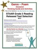 STAAR Release Analysis & Activities: Saw My Teacher on Saturday, Grade 3