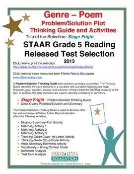 STAAR Release Analysis & Activities: Stage Fright, Grade 5