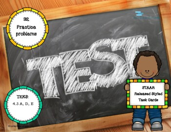 STAAR Released Styled 4.3 Task Cards