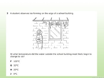 5th Grade Science STAAR Released Test Warm-up/Review