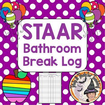 STAAR Restroom Bathroom Break Log for Students Teachers Documentation Sheet