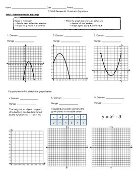 STAAR Review #4: All About Quadratic Functions