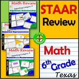 Test Prep STAAR Review 6th Grade Math Task Cards for Reporting Category 1, 2 &