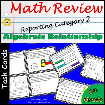 STAAR Review 6th Grade Math-Task Cards for Recording Category 2