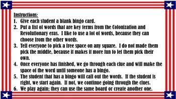 STAAR Review Bingo Bundle: Colonization-Reconstruction
