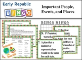 STAAR Review Bingo: Important People, Events,  and Places