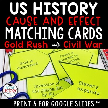 STAAR 8th SS Review - Cause and effect matching cards - Go