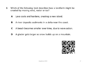 STAAR Review Changes to The Earth 4 Questions with QR Codes