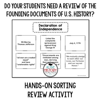 STAAR Review - Declaration, Articles, Constitution or Bill of Rights - Sort