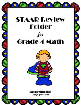 STAAR Review Folder w/ Foldables for Grade 4 Math