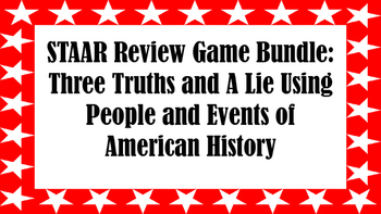 STAAR Review Game Bundle: 3 Truths and A Lie