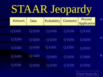 STAAR Review Jeopardy