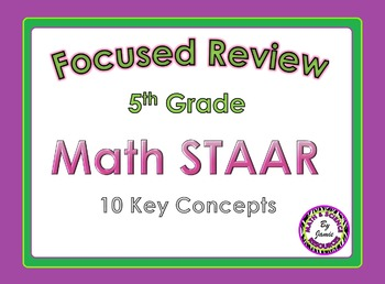 STAAR Review Key Concepts 5th Grade Math