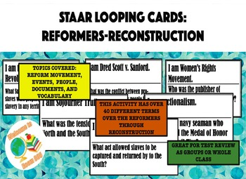 STAAR Review: Looping Cards for Reformers-Reconstruction